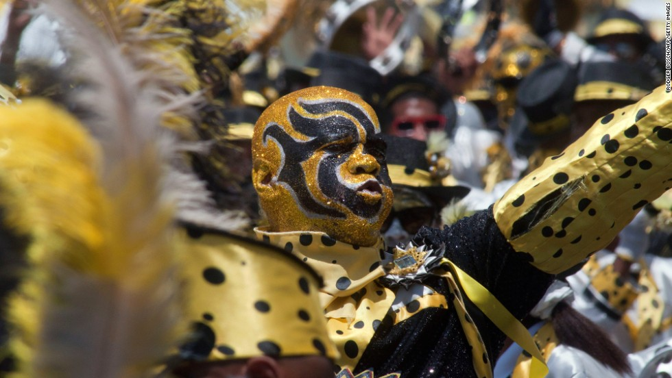 Donning ornately painted faces, the minstrels sung and danced to the beat of traditional ghoema drums.