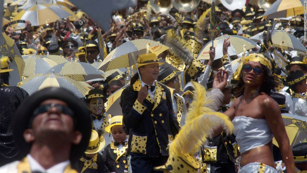 "Thousands of revelers take to the streets of Cape Town on January 2 to celebrate ""Tweede Nuwe Jaar"" (Second  New Year)."