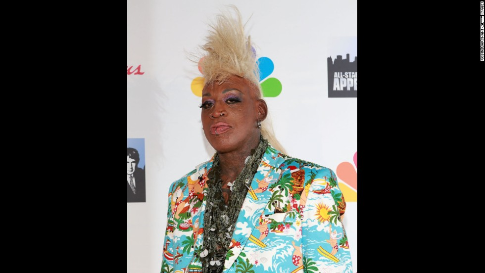 "Rodman attends the finale of the television show ""All-Star Celebrity Apprentice"" in 2013. Rodman has appeared on several reality TV shows, even winning ""Celebrity Mole"" in 2004."