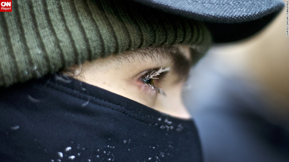 "A Chicago resident's <a href=""http://ireport.cnn.com/docs/DOC-1073106"">eyelashes froze</a> on the morning of January 6."