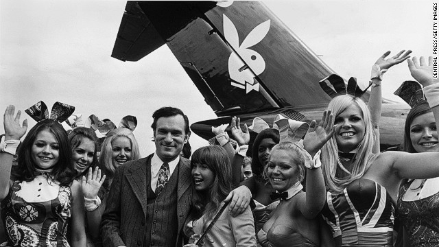 "Playboy founder Hugh Hefner and his ""clan"" often invited Gene Siskel to travel aboard Playboy's Bunny Jet DC-9 airliner, Siskel's widow said."