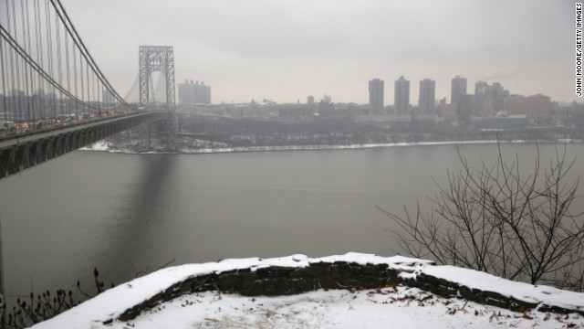 The George Washington Bridge is the vital connector between New York City and Fort Lee, New Jersey.