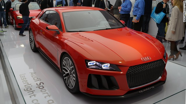 Audi's Sport quattro laserlight concept car, on display at CES, has shrunk down the automated car computer and sensors.