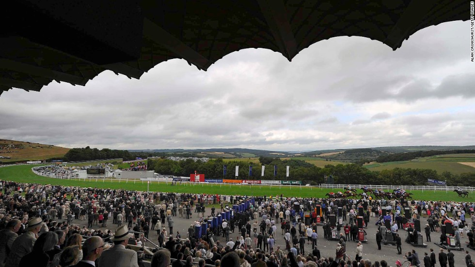 'Glorious' Goodwood stands out visually when compared to the world's other beautiful courses due to its surroundings. The view from the main grandstand, pitched high above rural Sussex in southern England, is spectacular. Its proximity to the coast means heavy fog often enshrouds the track, a scene unlike any other course in Britain.