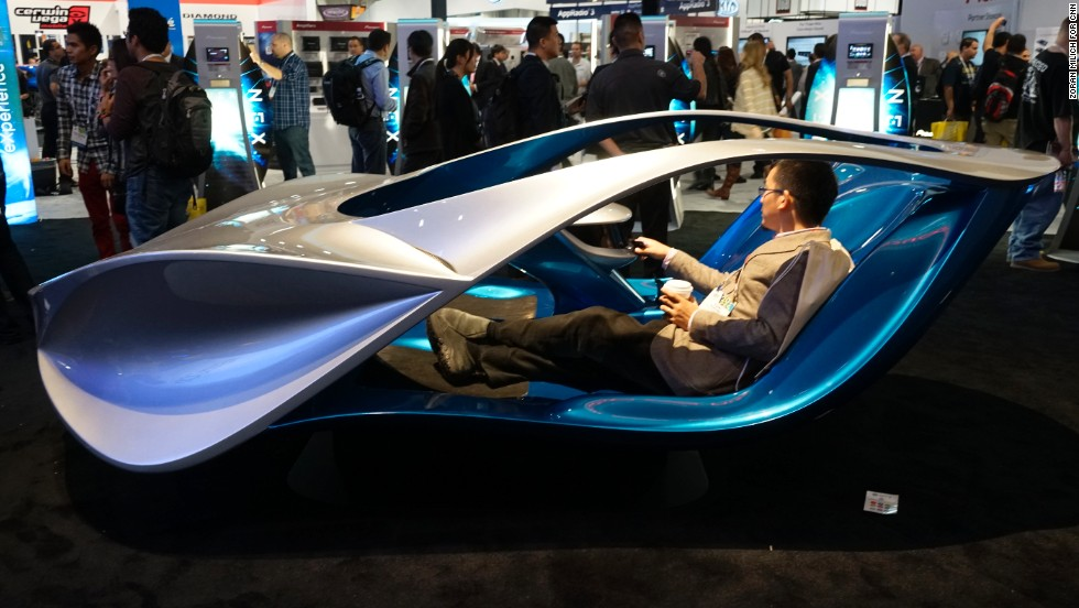 A futuristic car from Five Axis promotes Pioneer Electornics' Networked Entertainment eXperience, or NEX, line of car stereo products.