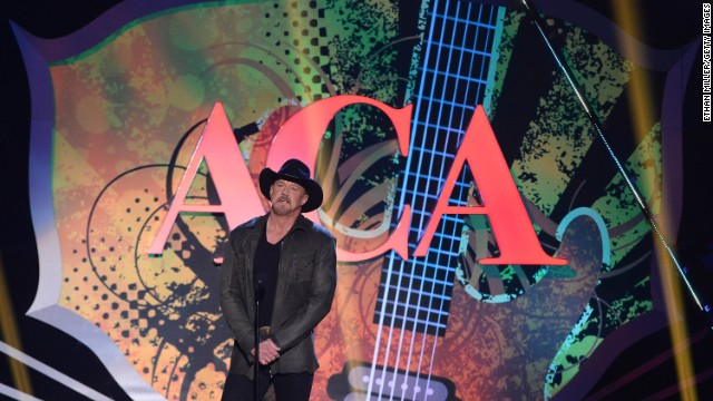Trace Adkins co-hosts the American Country Awards 2013 at the Mandalay Bay Events Center in December 2013 in Las Vegas, Nevada.