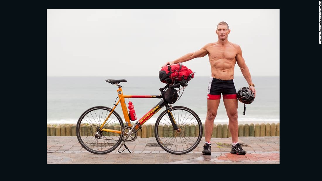 """I work at La Lucia Virgin Active. I'm a fitness manager there. I ride from where we live in North Beach, Durban out to the club every day. It's my mode of transport. I enjoy it. It certainly keeps me five-alive."""