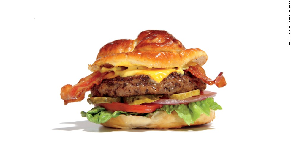 "<strong>Worst restaurant burger: </strong>Ruby Tuesday's bacon cheese pretzel burger has 1,759 calories, 105 grams fat, 3,257 milligrams sodium, 9 grams fiber and 68 grams protein. ""Order a burger at Ruby Tuesday and prepare for regret Wednesday,"" says Zinczenko. ""Every burger there tops 1,200 calories, even their turkey burger. But the pretzel burgers deserve their own circle of hell. Consider that Jake's Wayback offers a triple triple burger with nine patties and nine slices of cheese and holds a contest every year challenging people to down one of these monstrosities. Yet Jake's creation has only 140 more calories and a third less sodium than Ruby's everyday entrée!"" Multiple attempts at reaching Ruby Tuesday for comment were unsuccessful."