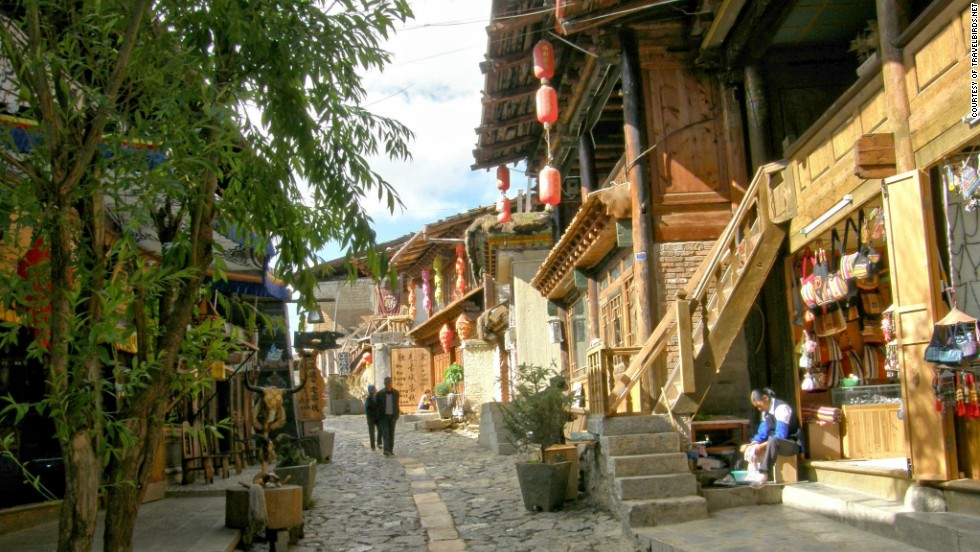 Narrow lanes are lined with ancient dwellings.