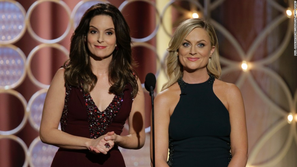 Fey and Poehler host the 2014 Golden Globe Awards. It was their second straight year hosting the event.