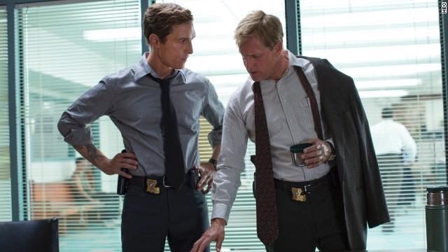"Matthew McConaughey and Woody Harrelson star in ""True Detectives."""