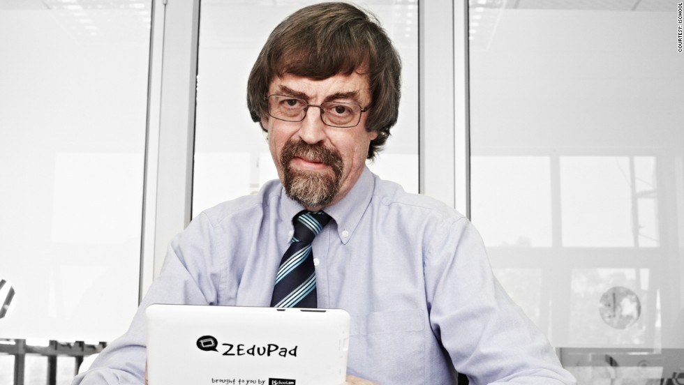 British entrepreneur Mark Bennett worked in the IT department  at the University of Zambia before creating the ZEduPad. He hopes to enter other markets in sub-Saharan Africa with his tablet computer.