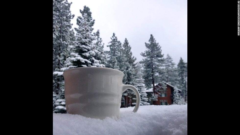 "<strong>#CoffeeCup winner —</strong> ""With our first taste of winter in the air, <a href=""http://instagram.com/p/goYJ8YCeEF/"" target=""_blank"">this photo</a> has me dreaming of a snowy ski season ahead (and crossing my fingers for lots of fresh powder days),"" Bolduan said."