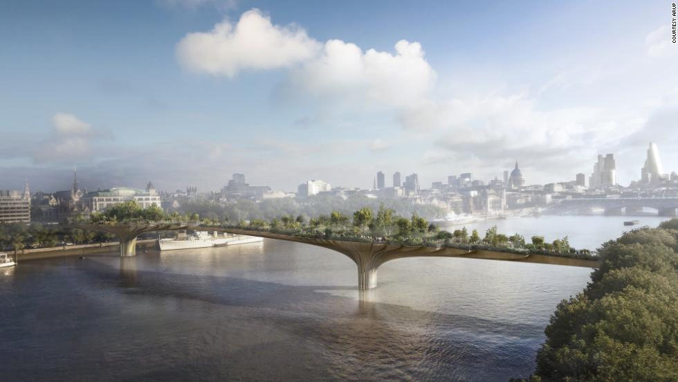 "If architect <a href=""http://www.heatherwick.com/"" target=""_blank"">Thomas Heatherwick</a> has his way, the River Thames will soon have a new plant-filled pedestrian crossing inspired in part by Leonardo DiCaprio."