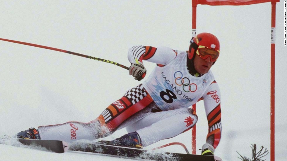 Hermann Maier survived one of the most dramatic crashes ever witnessed in skiing history after catapulting 30 feet into the air before landing on his helmet at over70 miles per hour (112.65 kph). The incident, which took place at the 1998 Games at Nagano, Japan, somehow left him with just minor injuries. Days later, he won gold medals in the giant slalom and super-G.