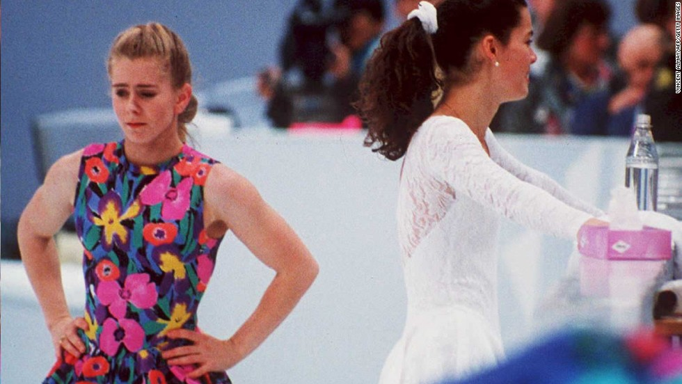 Ahead of the 1994 Lillehammer Games, Tonya Harding's former husband hired a man to break the leg of U.S. rival skater Nancy Kerrigan. The attack, which shocked the world of sport, left Kerrigan with a badly bruised knee but did not prevent her from claiming silver. Harding finished eighth.