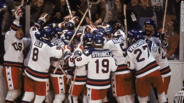 Trump joined & # 39; Miracle on Ice & # 39; hockey team at the Las Vegas rally