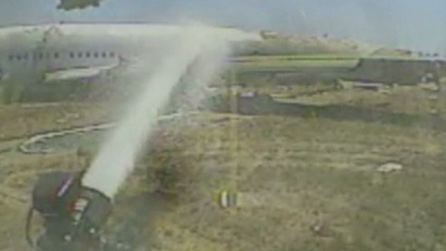 Asiana airlines crash fire fighter's helmet cam Earlystart _00005626.jpg