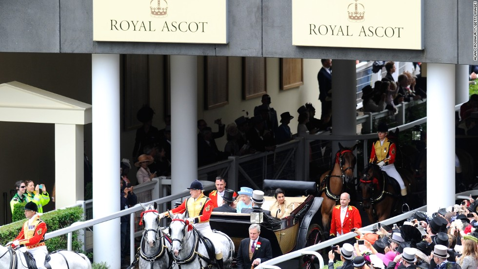 Queen Elizabeth II is patron of Royal Ascot and, as an avid racing enthusiast and owner, makes regular appearances at the famous British meeting in mid-June.