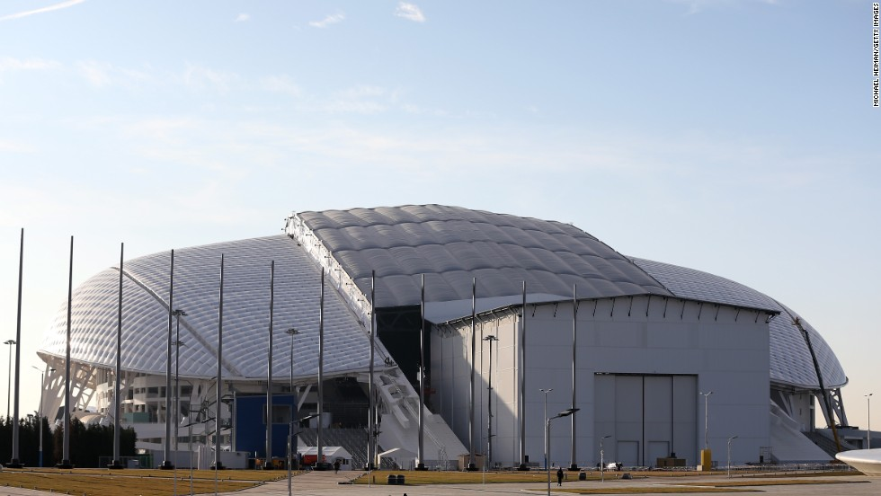 Sochi's Fisht Olympic Stadium will host the opening ceremony. Organizers say the elaborate jewel-encrusted Faberge eggs that are a renowned Russian icon inspired the unique shell-like design of the stadium.