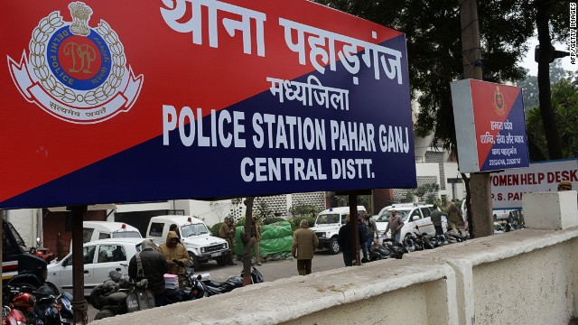 A sign for the Pahar Ganj Police station is seen in New Delhi on January 15, 2013, one day after a Danish tourist visiting India was allegedly raped on January 14. A Danish woman was gang-raped in the Indian capital after getting lost and asking a group of men for directions, police and reports said on January 15, the latest high-profile case of sexual assault against women in the country. AFP PHOTO/SAJJAD HUSSAINSAJJAD HUSSAIN/AFP/Getty Images