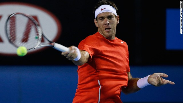Fifth seed Juan Martin del Potro was knocked out of the second round at the Australian Open by Spain's Roberto Bautista Agut.