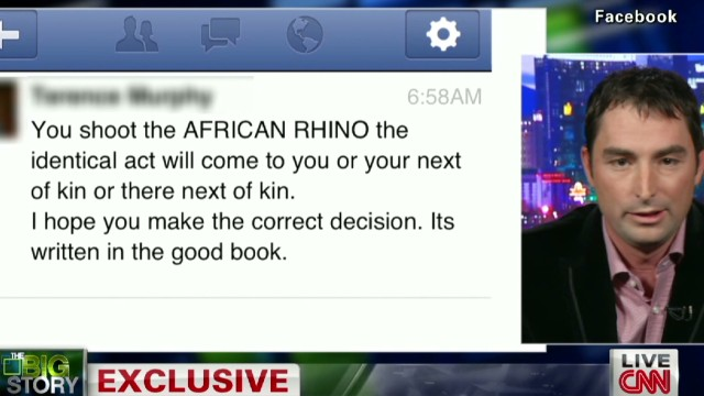 Rhino hunter is now hunted