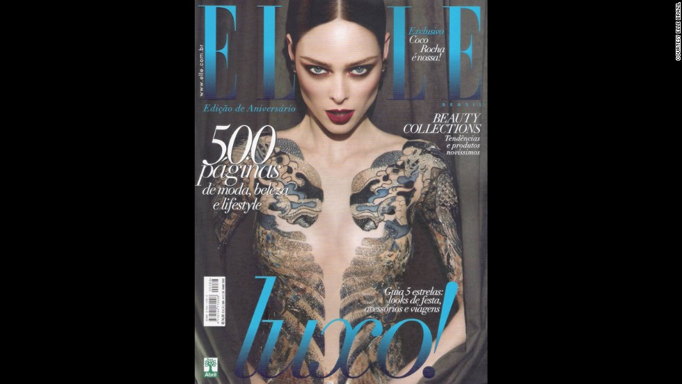 "When Coco Rocha was featured on Elle Brasil's May 2012 issue, she took to her Tumblr and had this to say: ""As a high fashion model I have long had a policy of no nudity or partial nudity in my photo shoots. For my recent Elle Brazil cover shoot I wore a body suit under a sheer dress which I now find was photoshopped out to give the impression of me showing much more skin than I was, or am comfortable with. This was specifically against my expressed verbal and written direction to the entire team that they not do so. I'm extremely disappointed that my wishes and contract was ignored. I strongly believe every model has a right to set rules for how she is portrayed and for me these rules were clearly circumvented."""