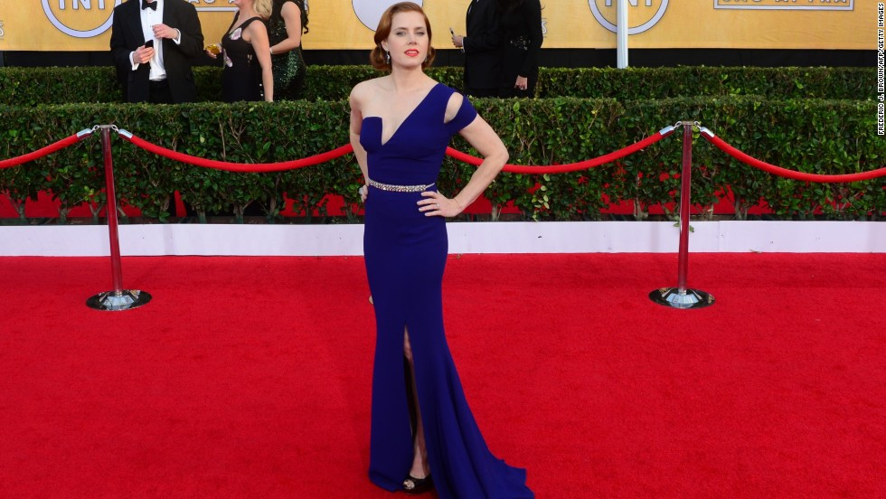 Whether indigo, cobalt or turquoise, Hollywood's elite appeared to be going through a blue period on the SAG Awards red carpet. Amy Adams turned heads with her asymmetrical royal blue frock, but she wasn't the only one...