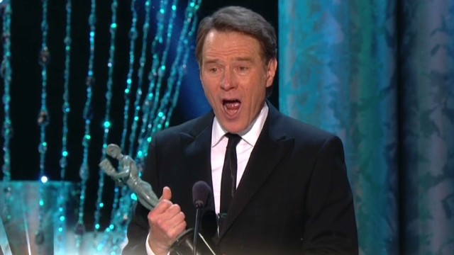 SAG win makes Bryan Cranston sing