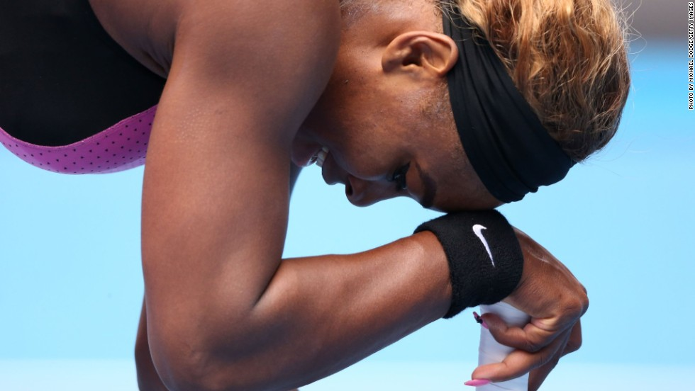 On Sunday, world No.1 Serena Williams melted under pressure from resurgent Serbian Ana Ivanovic in the fourth round Sunday.