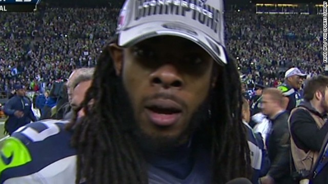 See Sherman's viral post-game rant