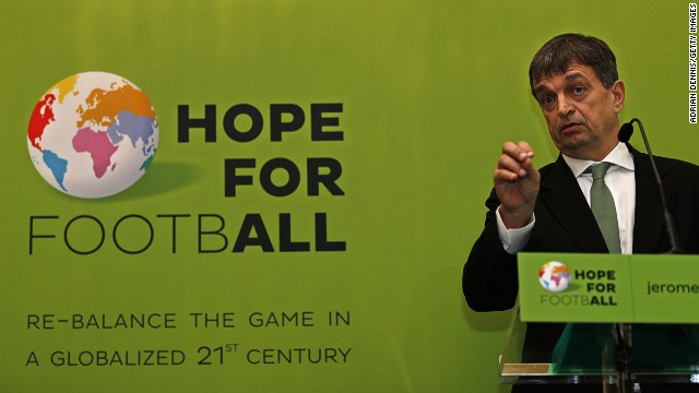 Presidential candidate Jerome Champagne is a former football journalist who has worked for FIFA before.