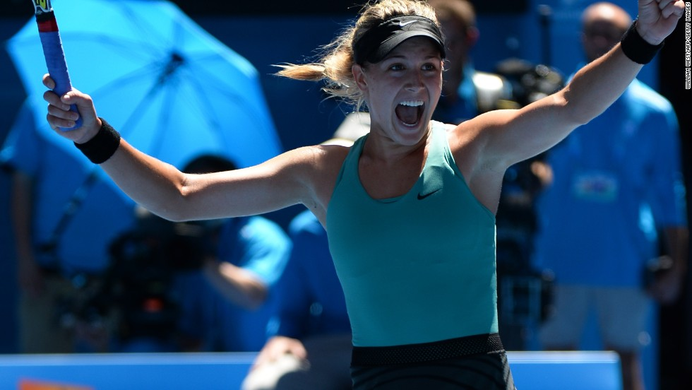 Eugenie Bouchard scored a shock victory over 14th seed Ana Ivanovic to reach the semifinals of her first Australian Open. The Canadian came back from one-set down 5-7 7-5 6-2.
