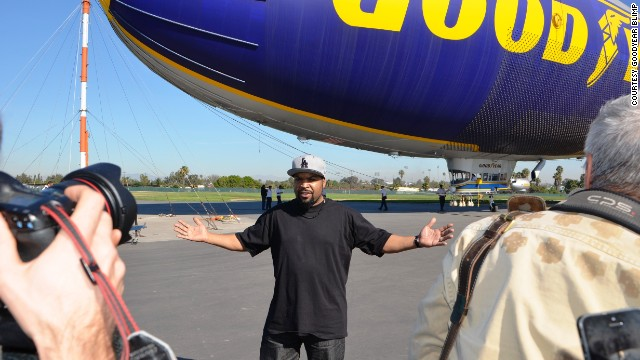 Ice Cube poses for photographers on Monday.