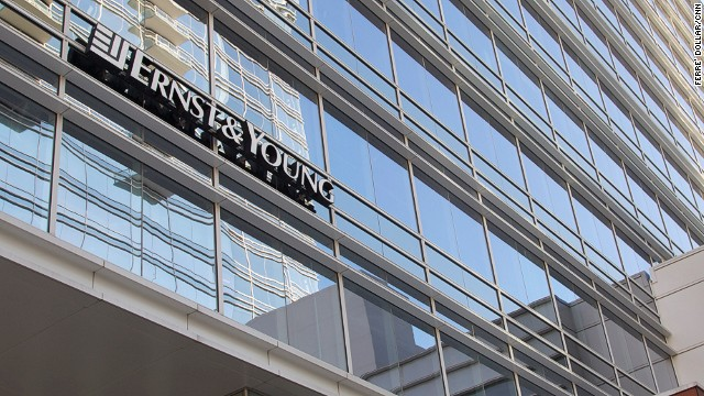 Ernst & Young, accounting firms, Ext's Bldg, sign Graphics Project