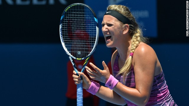 World No. 2 Victoria Azarenka had taken the women's title at Melbourne Park in each of the past two years.