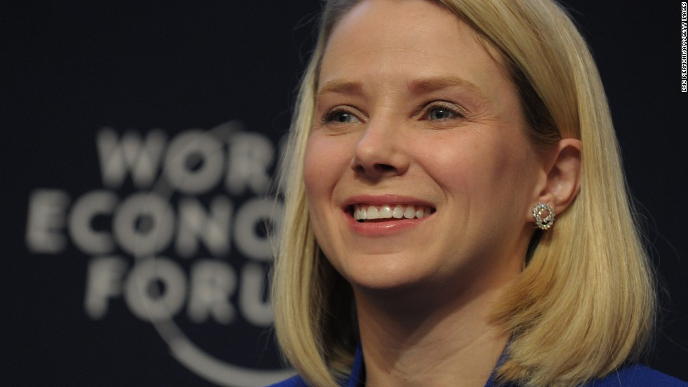 Yahoo CEO Marissa Mayer was mentored by Google co-founders Larry Page and Sergey Brin after becoming the first female engineer at the company.
