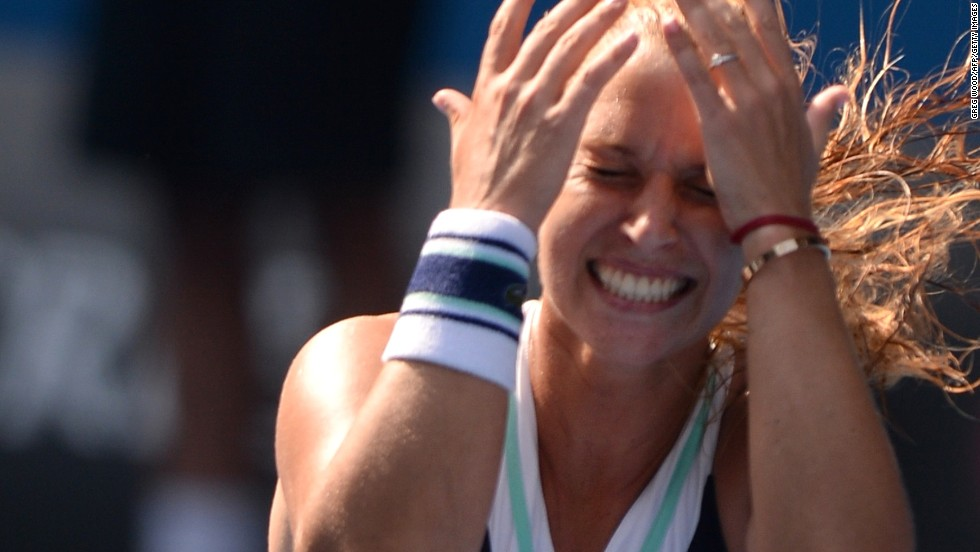 And then there were two...Dominika Cibulkova will meet Li Na in the Australian Open.