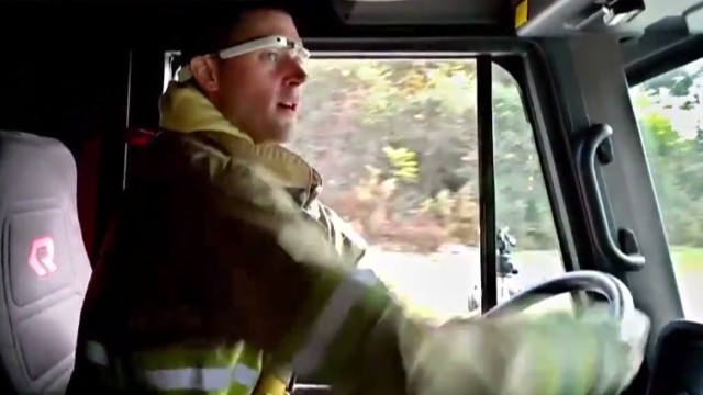 Google Glass: view from a firefighter