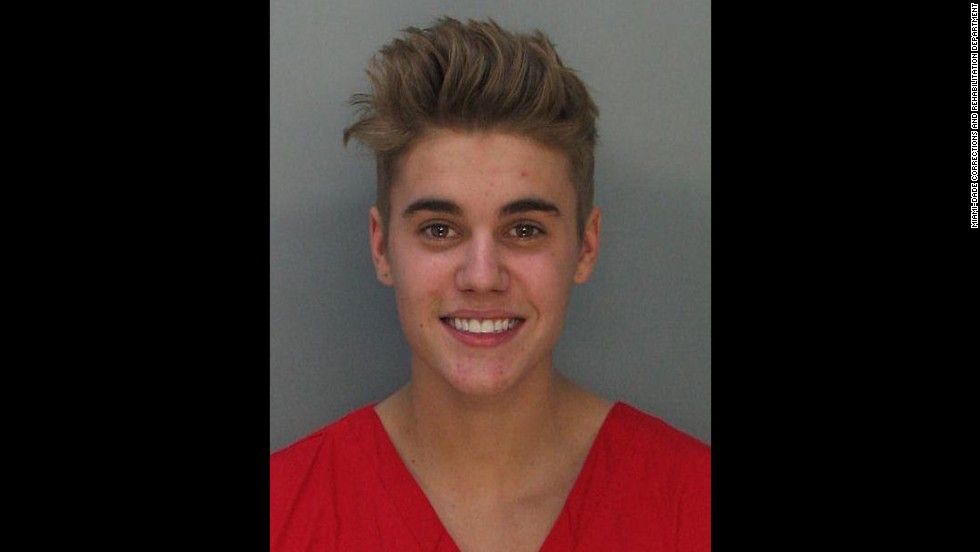 "Justin Bieber was charged with drunken driving, resisting arrest and driving without a valid license after police saw the pop star <a href=""http://www.cnn.com/2014/01/23/showbiz/justin-bieber-arrest/index.html?hpt=hp_t1"">street racing in a yellow Lamborghini </a>in Miami in January 2014. ""What the f*** did I do?"" he asked the officer. ""Why did you stop me?"" He was booked into a Miami jail after failing a sobriety test."