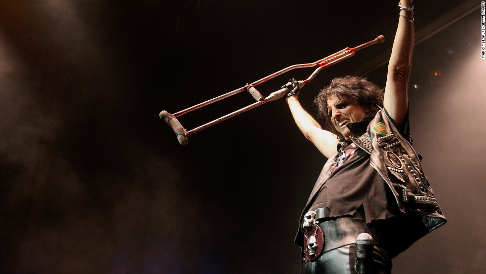 Singer Alice Cooper, the son of a lay preacher, always believed in Christ but wouldn't have considered himself a Christian before giving up his rock-star lifestyle, he told the Huffington Post.