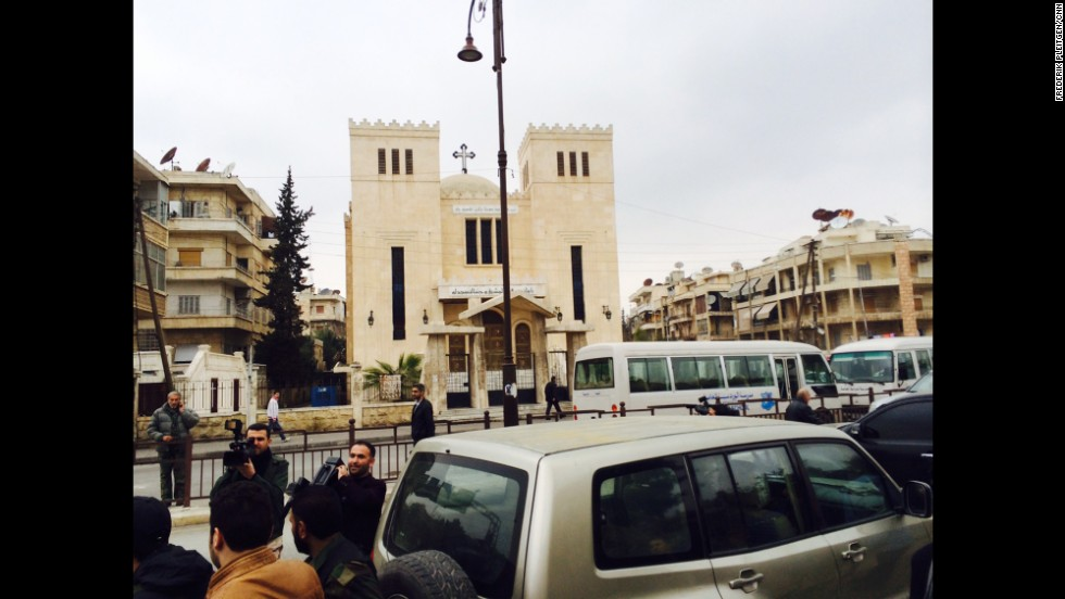 A church in downtown Aleppo.