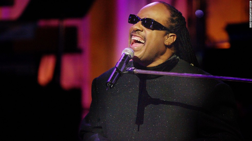 Stevie Wonder, seen performing here in 2004, was arrested during an anti-apartheid protest at the South African Embassy in Washington, a few days before the Grammys in 1985.