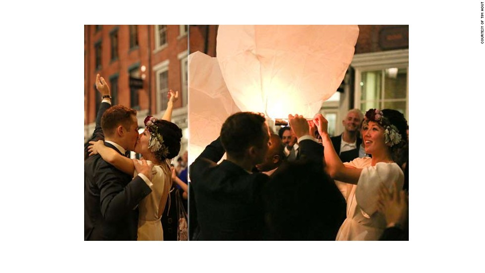 "<a href=""http://www.elle.com/life-love/sex-relationships/kelsey-isaac-weddings#slide-6"" target=""_blank"">Chi and Jesse</a>: October 6, 2012, in New York City"