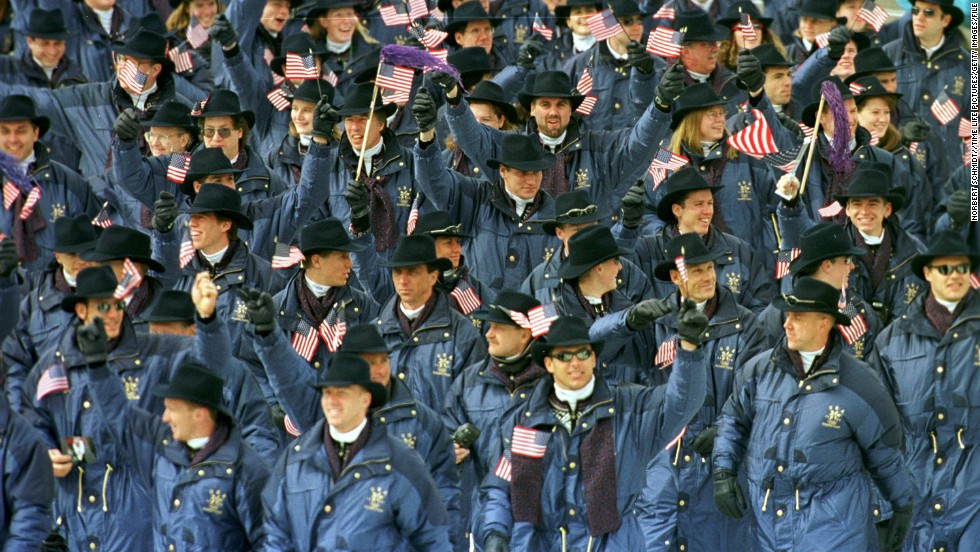 U.S. athletes at the 1998 Winter Olympics in Nagano, Japan.