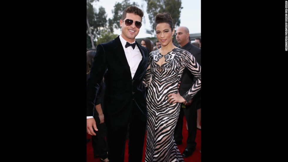 grammy red carpet robin thick paula patton