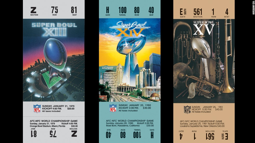 Tickets for Super Bowls XIII, XIV and XV.
