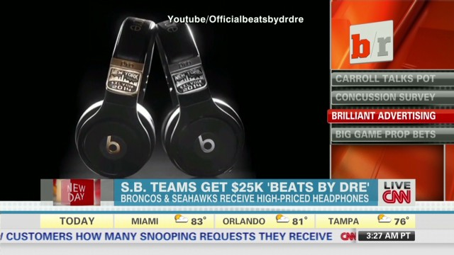Super Bowl teams get $25k 'Beats by Dre'
