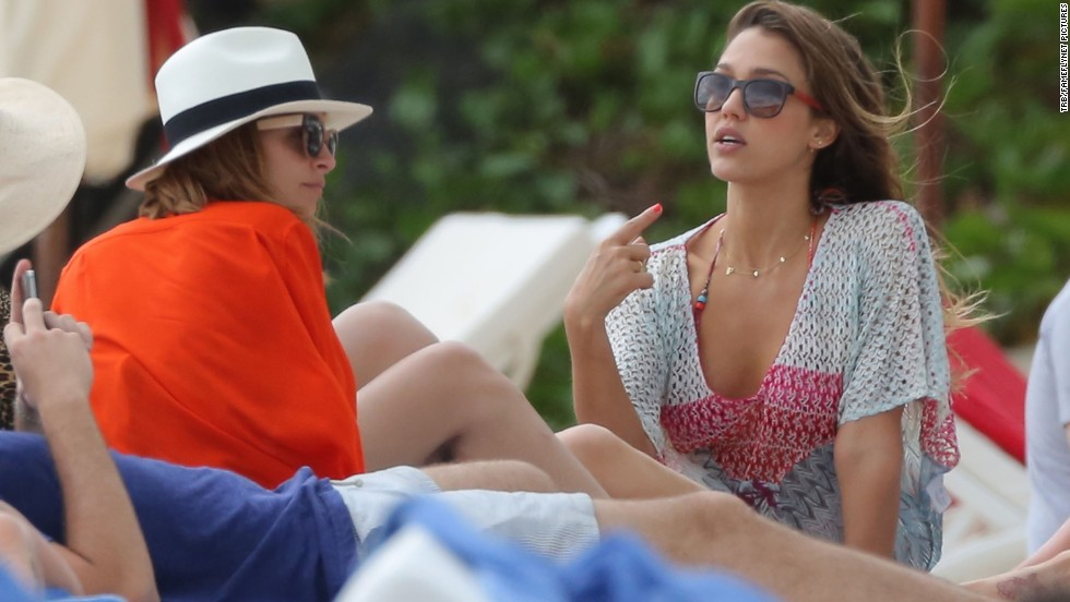 We didn't know that Jessica Alba, right, and Nicole Richie were so close they'd vacay together, but the two were seen enjoying downtime in St Barts in April 2013. Fashionable moms of feather seem to flock together.